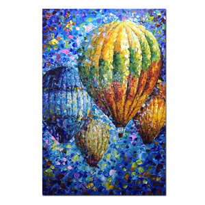 Large Canvas Art Colorful Lots of Hot Air Balloon in the Blue Sky