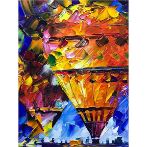 Abstract Colorful Hot Air Balloon Canvas on Wall Decor Corridor