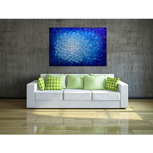 Blue and White Clear Texture Fantasy Canvas Wall Decor Living Room