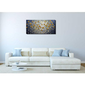 Hand Painted Unique Abstract Wall Canvas Art Clearly Textured
