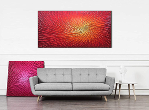 Cheap Original Art Abstract Dark Red Large Abstract Flower No Fade
