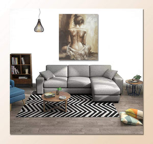 Oil Painting Wholesale Unframed Abstract Lady Canvas Wall Art Decor Living Room