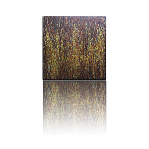 Yellow and Brown Abstract Water Droplets Extra Large Wall Art