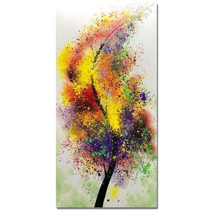 Extra Large Wall Paintings Giant Colorful Single Leaf Perfect Decor Hallway