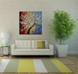 flower canvas painting square wall art
