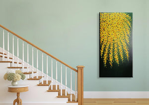24*48inch Save $25 ($76.99 on Amazon) Yellow Canvas Art Framed Ready to Hang (Only for US)