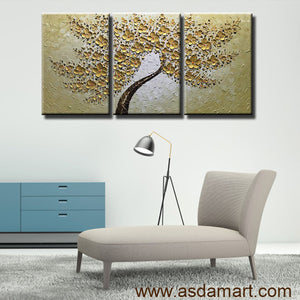 Handpainted Oil Paintings Artwork Tree 3D Paintings On Canvas for Sale