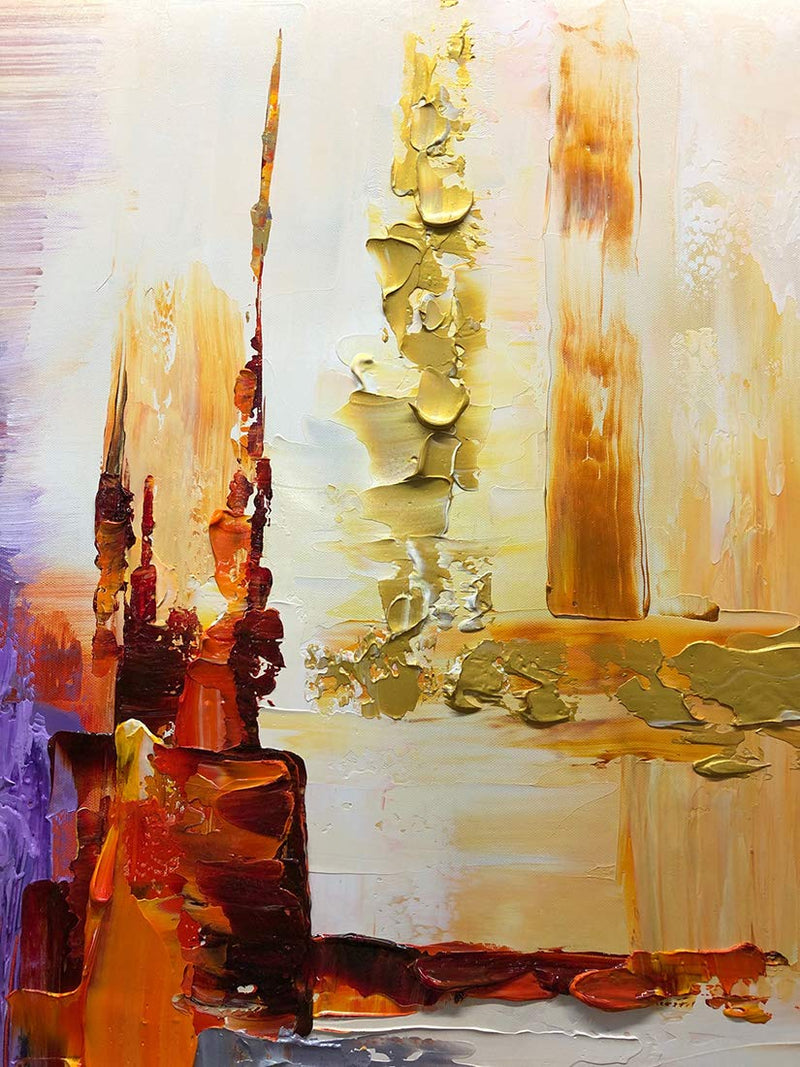 Large Modern Art Canvas Abstract Thick Acrylic Colorful