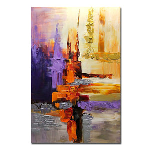 Large Modern Art Canvas Abstract Thick Acrylic Colorful Texture Wall Paintings
