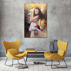 Oil Paintings for Sale Beautiful Slim Girl Dances Unframed Canvas Art