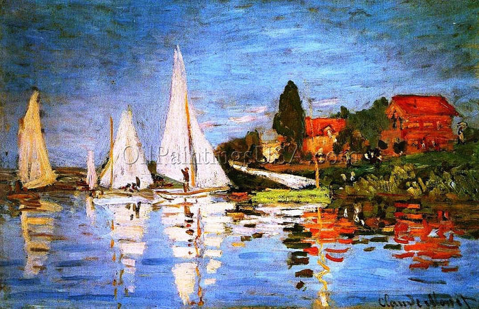 Large Pictures for Living Room Claude Monet Regatta at Argenteuil II
