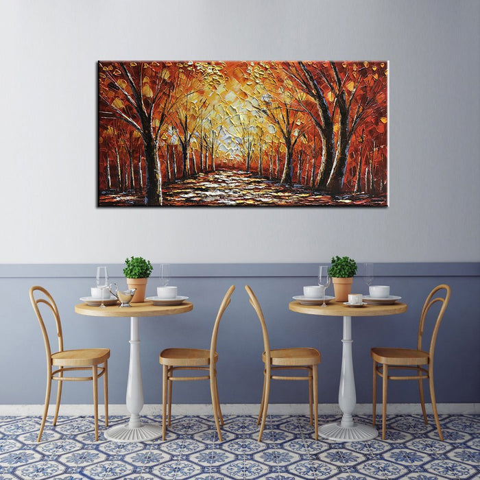 Large Scale Wall Art Forest Canvas Paintings Decor Bedroom Gift to New House