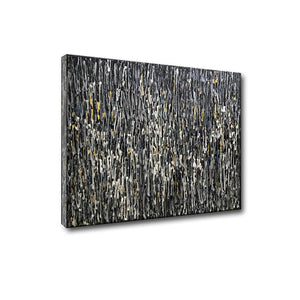 Abstract Gray Square 3D Hand Painted Large Wall Art for Living Room