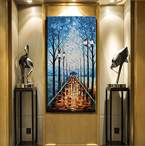 Large Wall Paintings for Living Room Vertical 100% Hand Painted Canvas Art