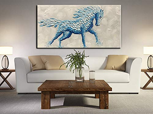 Large Living Room Art Slight Blue Mythical Creatures Good Present for housewarming