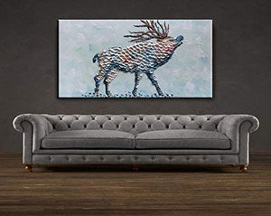 Large Original Art David's Deer Thick OiL Body Canvas Painting without Frame Decor Home