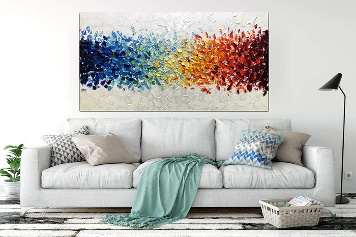Living Room Art Decor Colorful Handcrafted Canvas Paintings