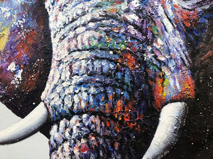 Buy Original Art Online Cute Elephant Unframed Canvas Art Decor Bedroom