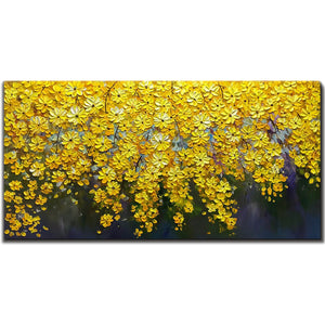 Oil Painting on Canvas Falling Chrysanthemum 100% Hand Painted