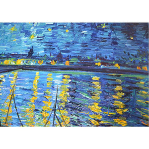 Van Gogh Blue Tone Sailboat Hand Painted Oil Painting Reproductions