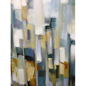 Abstract Square Colorful Textured Oil Painting Wall Decor