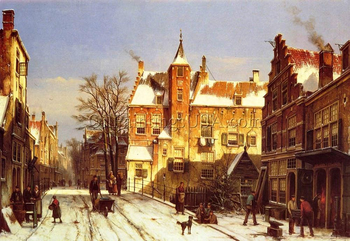 Replicas Art for Sale Willem Koekkoek A Dutch Village In Winter