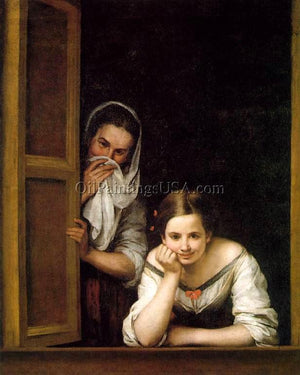 Original Paintings Bartolome Esteban Murillo A Girl and Her Duenna