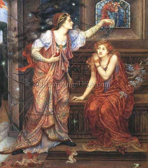 Paint Art Reproduction Evelyn De Morgan Queen Eleanor and Fair Rosamund