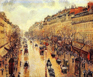 Impressionism Paintings for Home Boulevard Montmartre Afternoon in the Rain