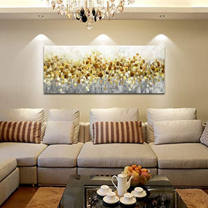 Contemporary Art Gold Texture Hand Painted Canvas Painting Online