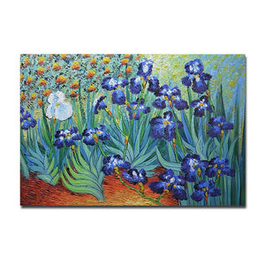 Replica Painting Art Van Gogh Irises 3D 100% Hand Painted