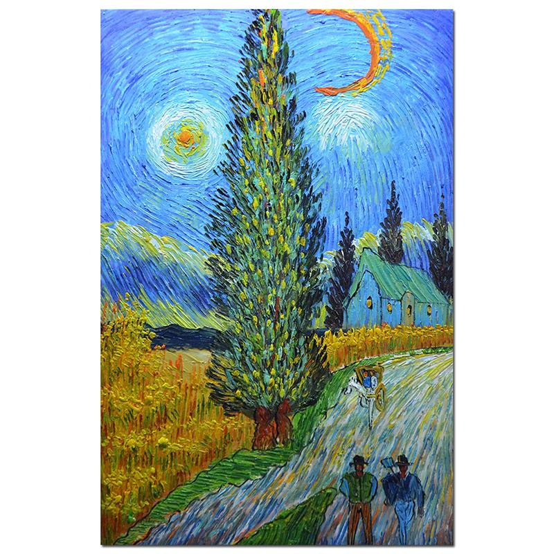 Reproduction Artwork Van Gogh Yellow Wheat and Cypresses