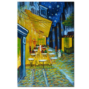 Hand Painted Reproduction Canvas Van Gogh Cafe Terrace at Night