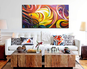 Giant Canvas Wall Art Abstract Acrylic Handmade Artwork Decor Living Room
