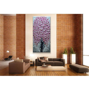 Wall Art Hand Painted Floral Painting  Decor Living Room Living Room