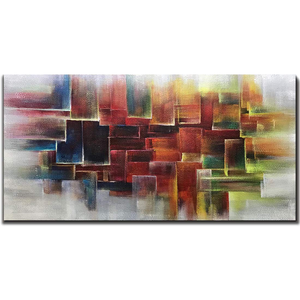 Oil Paintings Artwork Colorful Background Clearly Texture by Hand Painted