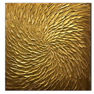 Abstract Gold Thick Oil Canvas Art for Living Room