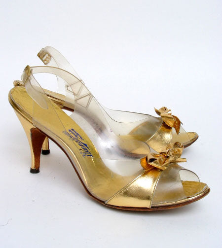 Gold Bow Slingbacks - Unique Boutique NYC  - 1