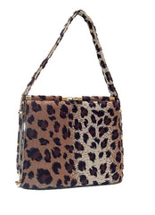 Faux Leopard hand/shoulder bag