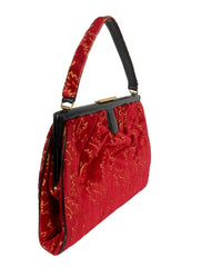 Velvet Carpetbag with cut out Leaves