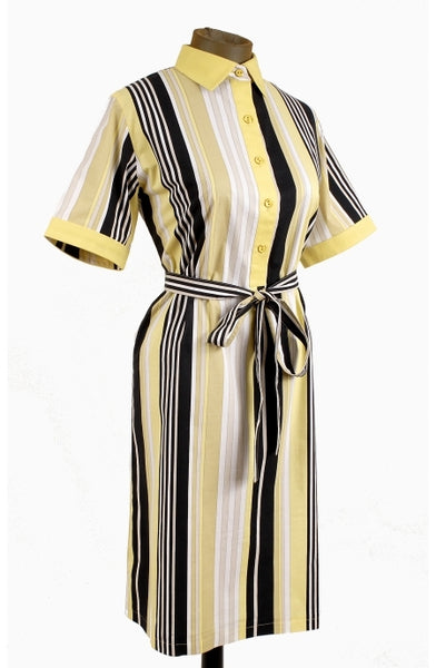 Averado Bessi Vintage Striped Shirtdress - Unique Boutique NYC  - 1