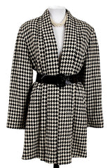 Pleated Houndstooth Swing