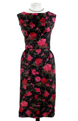 Vintage Rose print Dress with two tier skirt