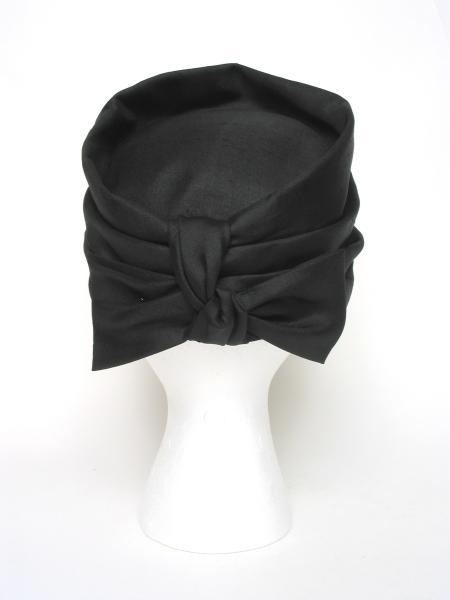 Raw Silk Turban with Back Bow - Unique Boutique NYC