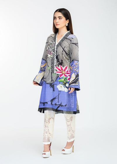 Stitched Embroidered Kurti Regal Blue