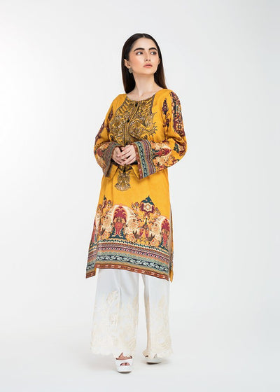 Stitched Embroidered Kurti Mystic Illusion