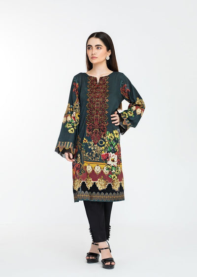 Stitched Embroidered Kurti Blissful Green