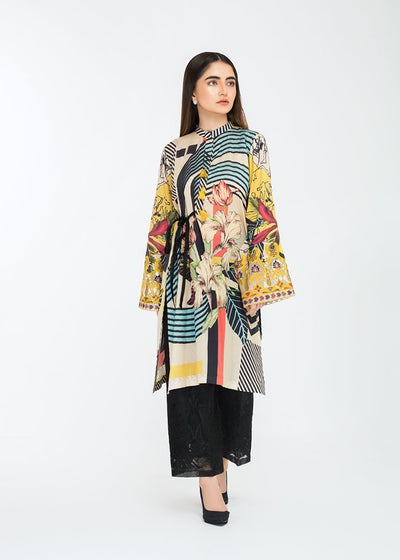 Stitched Embroidered Kurti Midnight Galaxy