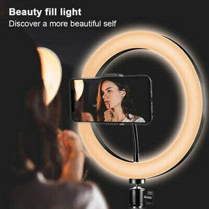 LED Photographer Makeup Selfie Ring Light with Table Tripod