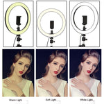 "10"" LED Photographer Makeup Selfie Ring Light with 160cm Tripod"